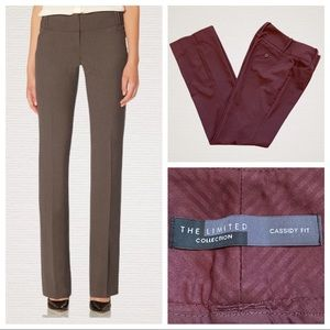 The Limited Cassidy Fit Bootcut Trouser Plum 2
